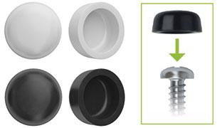 TCR: TAPONES DE PVC, PARA CABEZAS DE TORNILLOS DIN-7981 & DIN-7504-N. PVC CAPS FOR HEAD SCREWS DIN-7981 & DIN-7504-N. BOUCHONS EN PVC POUR TÊTE VISES DIN-7981 & DIN-7504-N