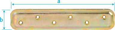 CM0780: PLETINA PARA EMPOTRAR, BICROMATADA. FLAT CONNECTOR, TO BE EMBEDED, YELLOW ZINC PLATED. PLATINE EMBOUTIE BICHROMATÉE