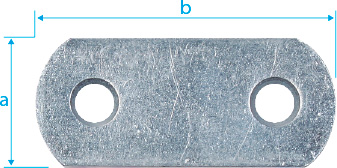 CM0900: PLETINA DE ENSAMBLAJE, ZINCADA. FLAT CONNECTOR, ZINC PLATED. PLAQUE DE LIASION, ZINGUÈE