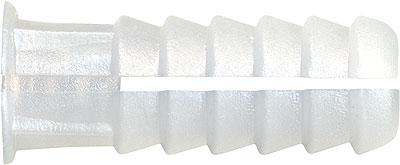 TAPLAS: TACO PLASTICO BLANCO, POLIPROPILENO. PLASTIC PLUG, POLYPROPYLENE. CHEVILLE PLASTIQUE, POLYPROPYLÈNE