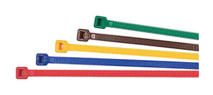 BR: BRIDAS DE NYLON, POLIAMIDA 6.6, DIFERENTES COLORES. CABLE TIES, POLYAMIDE 6.6, DIFFERENT COLORS. COLLIER DE SERRAGE, POLYAMIDE 6.6, DIFFÉRENTES COULEURS
