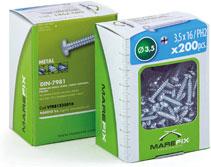 Marefix: caja con ventana DIN-7981