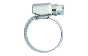 AS: ABRAZADERA SIN-FIN. HOSE CLAMP, NON PERFORATED, GERMAN TYPE. COLLIER SANSFIN.